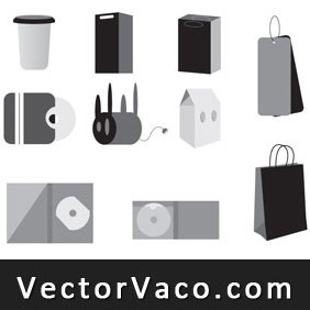 Vector Bags And Packages - vector gratuit #212283