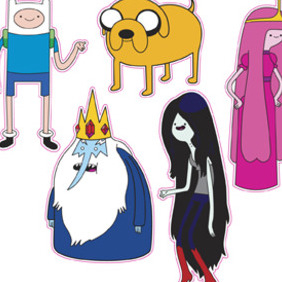 Adventure Time Characters - Free vector #212313