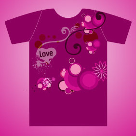 Love T-shirt - Free vector #212393