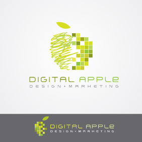 Digital Apple - vector gratuit #212443
