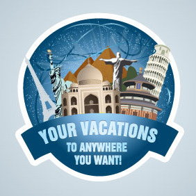 Travel Stamp By Logo Open Stock - vector #212533 gratis