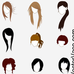 Vector Hairstyle - vector gratuit #212603