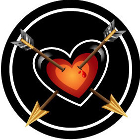 Heart And Arrows Vector - vector gratuit #212683
