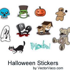 Halloween Stickers - vector #212733 gratis