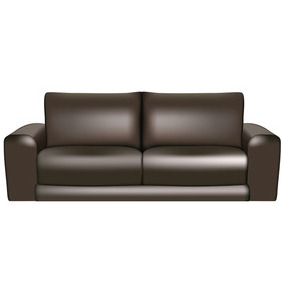 Vector Leather Sofa - бесплатный vector #212753