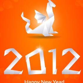 Free New Year Vector Greeting Card - vector gratuit #212763
