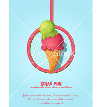 Free cartoon ice cream design vector - vector gratuit #212823