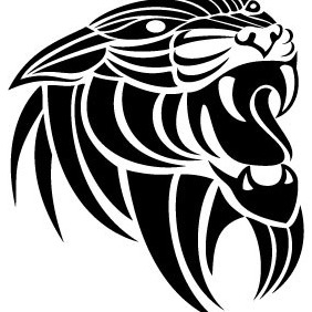 Panthera Tribal Vector Image - Free vector #212873