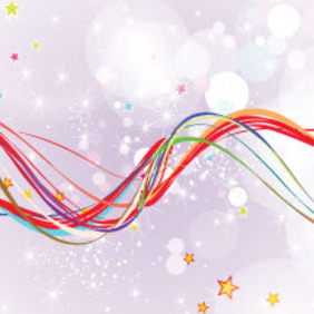 Colored Lines In Clear Purple Background - vector gratuit #212943