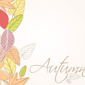 Autumn BackgroundTemplate - Free vector #213083