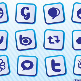 Download Social Media Icons - vector #213093 gratis