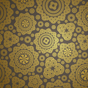 Seamless Brown Paisley Pattern - vector gratuit #213133