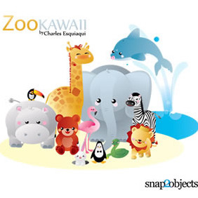 Kawaii Zoo - vector #213183 gratis
