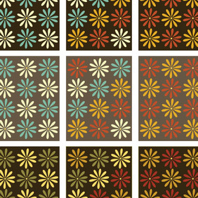 Flower Pattern - vector #213373 gratis