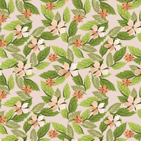 Flowers And Leaves Pattern - vector gratuit #213413