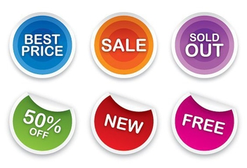 Sale Stickers Set - Kostenloses vector #213473