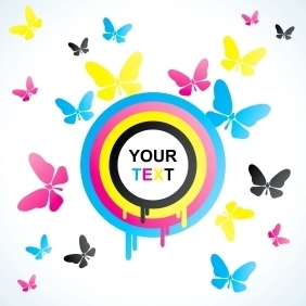 Colourful Butterfly Background - Free vector #213503