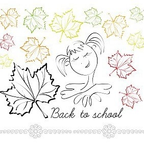 Girls Back To School! - vector gratuit #213523