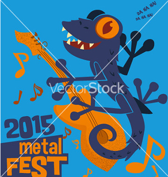 Free cartoon animal music festival design vector - Free vector #213633