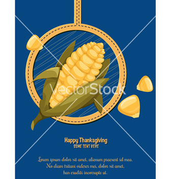 Free cartoon corn vector - vector #213643 gratis