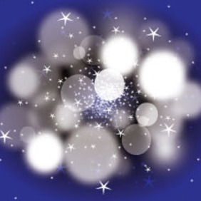 Dark Blue Blur Bubbles Vector Art - Free vector #213673