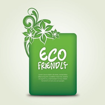 Eco Friendly - vector gratuit #213683