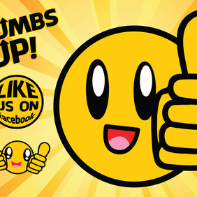 Thumbs Up Vector - Free vector #213823