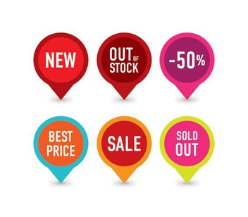Selling Badges - vector gratuit #214043