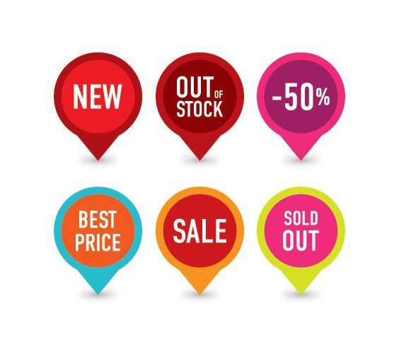 Selling Badges - Free vector #214043