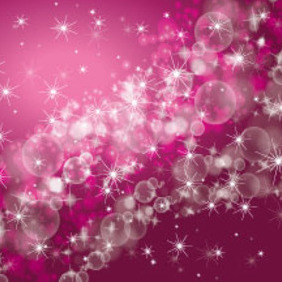 Waves Of Bubbles Purple Bokeh Vector - vector gratuit #214073