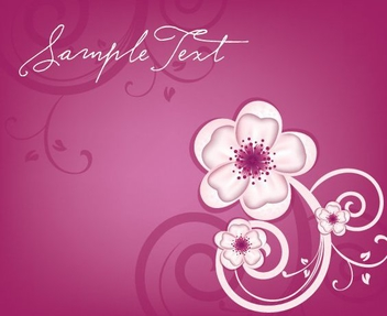 Flowery Design - Free vector #214093