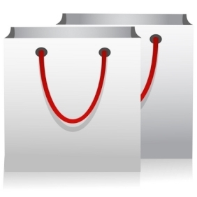 Shopping Bags, White In Color - vector gratuit #214183