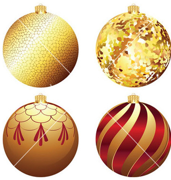 Free decorative xmas balls vector - бесплатный vector #214283