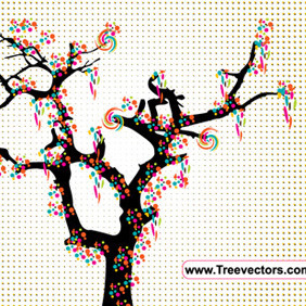 Colorful Tree Vector - Free vector #214293