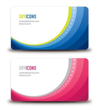Abstract Business Cards - Free vector #214313