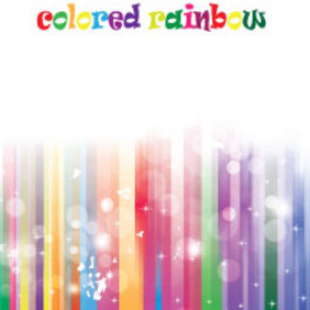 Colored Rainbow Lines With Stars - Free vector #214583