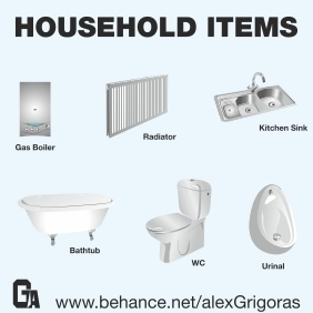 Household Items Collection - vector gratuit #214613