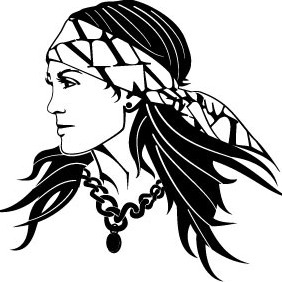Gypsy Woman Vector 2 - vector gratuit #214633