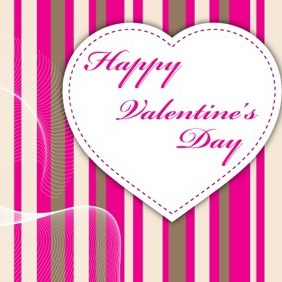 Valentine Card Vector - Free vector #214713