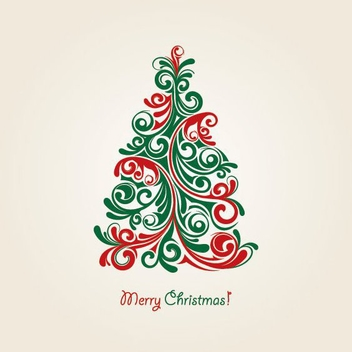 Christmas Tree Vector - vector gratuit #214853