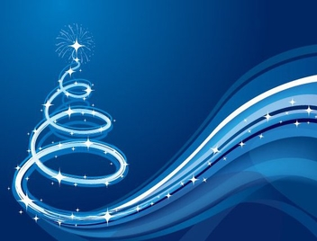 Christmas Wave - vector gratuit #214923