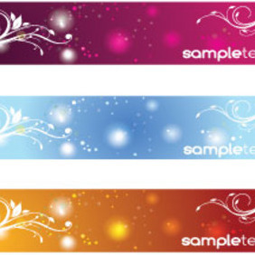 Hree Swirly Banners Free Vector Art - Free vector #214973