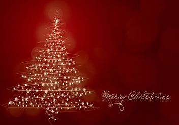 Merry Christmas Card - Free vector #215023