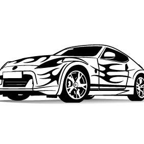 Sports Car Vector Illustration - vector gratuit #215053