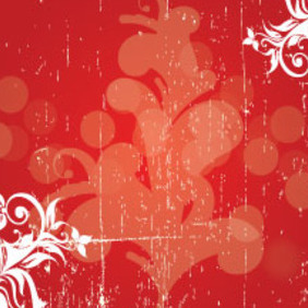 Grunge Swirly Red Background Free Design - бесплатный vector #215113