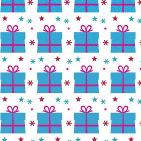 A Sweet Gift Seamless Photoshop And Illustrator Pattern - vector #215203 gratis