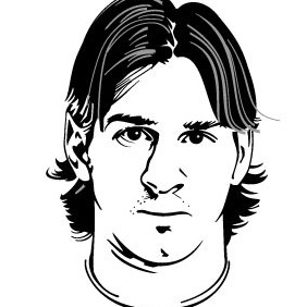 Lionel Messi Vector Portrait - Free vector #215353