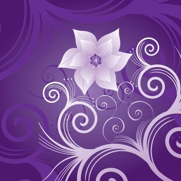 Flower on Violet - Kostenloses vector #215563