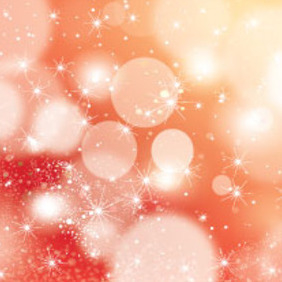 Orange Blur Vector With Graphic Stars - Free vector #215603