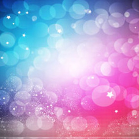 Colorful Abstract Background With Stars And Bubbles - vector gratuit #215753